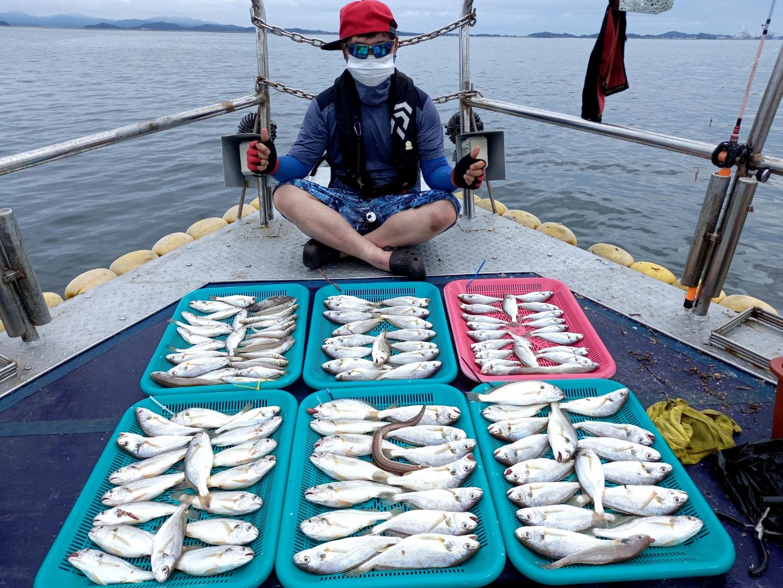 7월8일 해랑호 백조기 조황